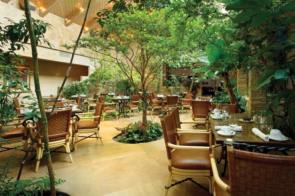 Outdoor Dining at El Monte Sagrado Living Resort and Spa, Taos, NM