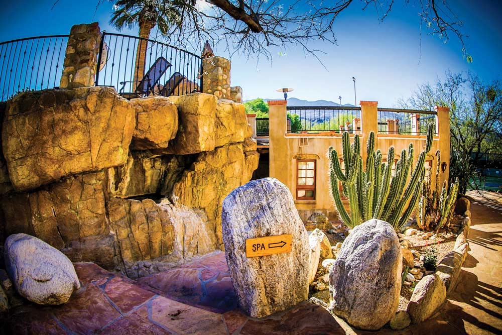 Spa Entrance at Tanque Verde Ranch, AZ