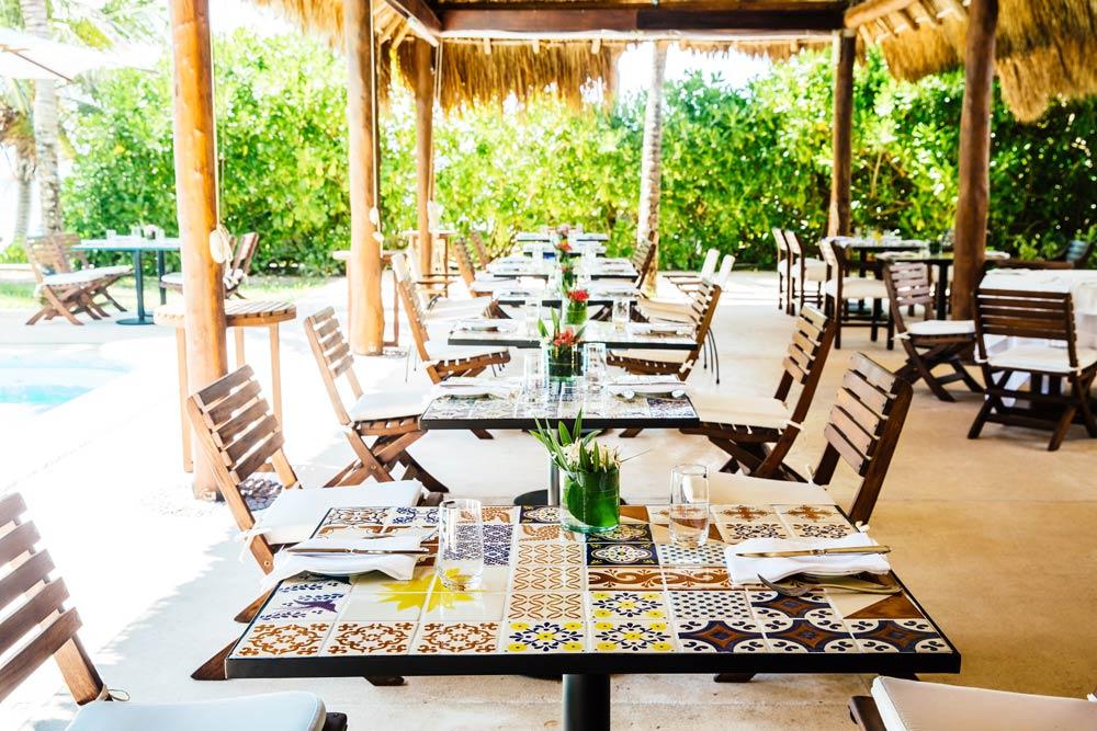 Restaurant at Esencia, Playa del Carmen, Quinta Roo, Mexico