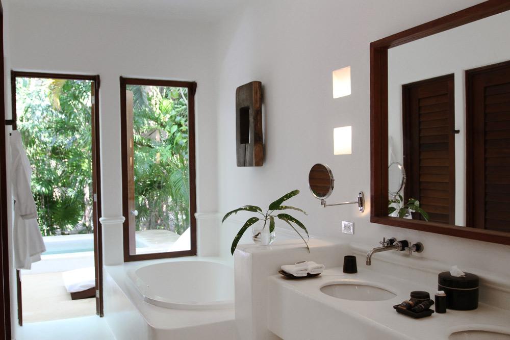 Garden Suite Bath at Esencia, Playa del Carmen, Quinta Roo, Mexico