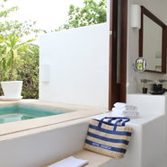 Garden Plunge Pool Suite Bath at EsenciaPlaya del CarmenQuinta RooMexico