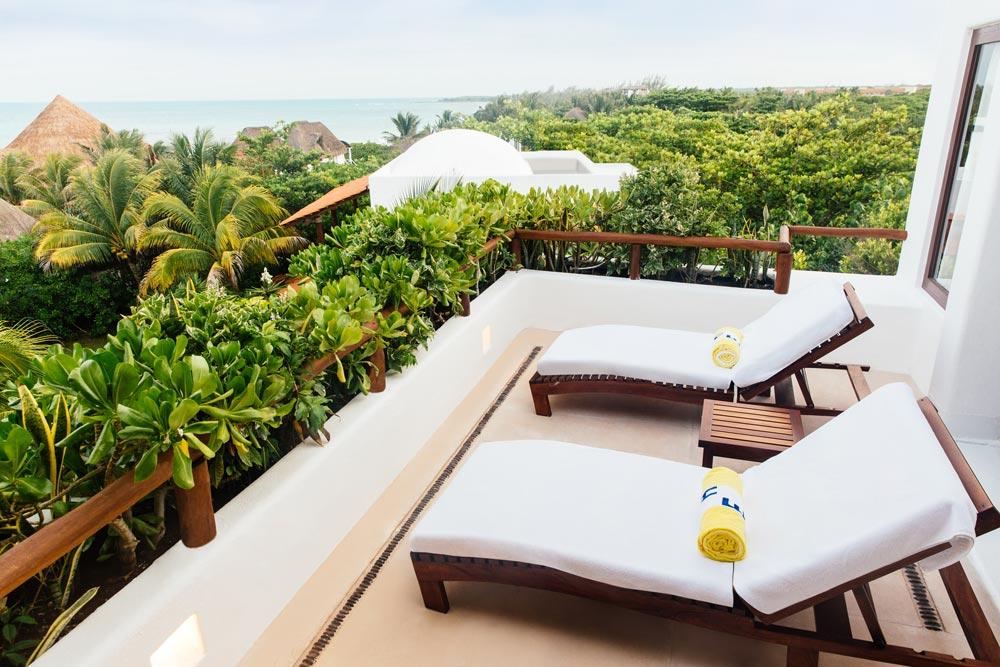 Terrace at Esencia, Playa del Carmen, Quinta Roo, Mexico
