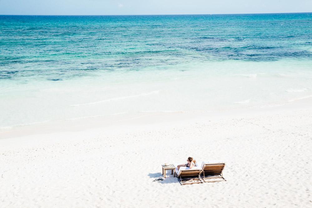 Beach at Esencia, Playa del Carmen, Quinta Roo, Mexico