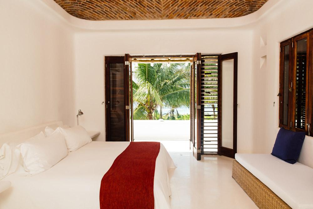 Private Villa Bedroom at Esencia, Playa del Carmen, Quinta Roo, Mexico