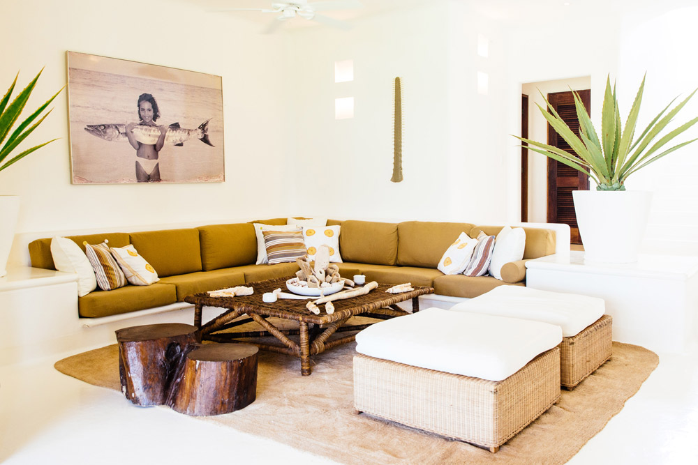 Private Villa Lounge at Esencia, Playa del Carmen, Quinta Roo, Mexico