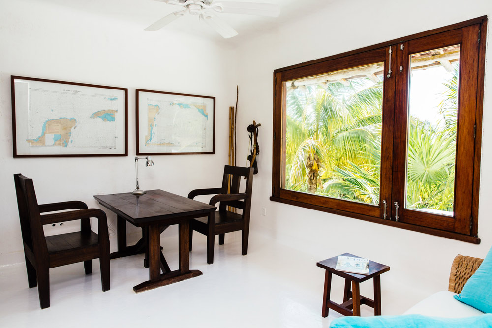Private Villa Sitting Room at Esencia, Playa del Carmen, Quinta Roo, Mexico
