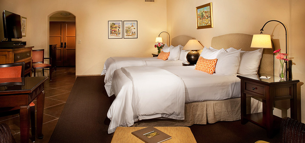 Deluxe Double Queen Guestroom at Spanish Garden InnSanta BarbaraCA