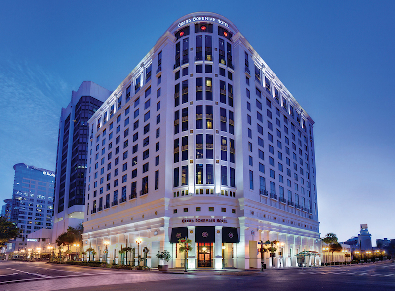 Exterior view of the Grand Bohemian Hotel Orlando.