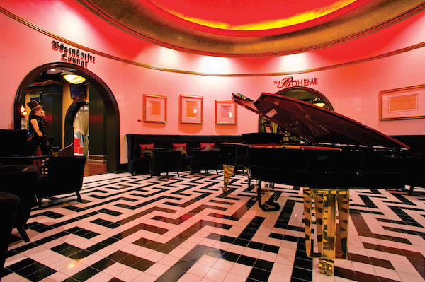 Bosendorfer Lounge at the Grand Bohemian Hotel Orlando.