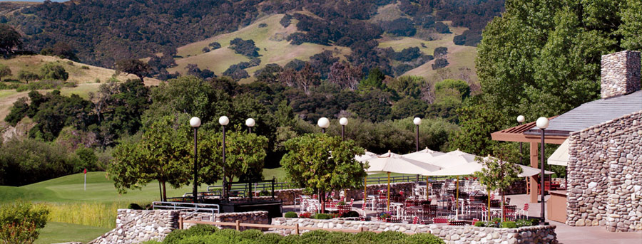 Terrace Dining at Alisal Guest Ranch and Resort SolvangCA