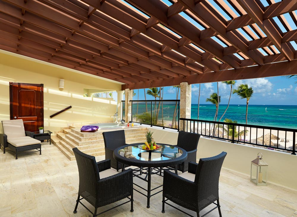 Presidential Suite Terrace at Paradisus Palma Real All InclusivePunta Cana