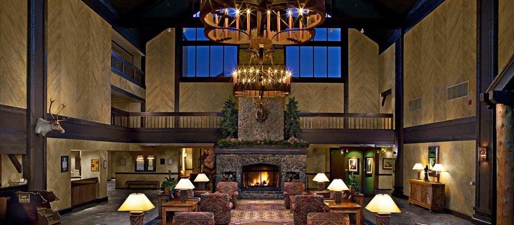 Lobby of Tenaya Lodge at YosemiteFish CampCA