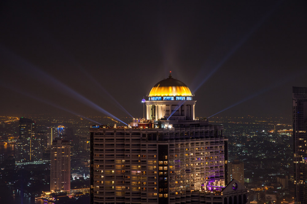 Night Exterior Views at Tower Club at Lebua, Thailand