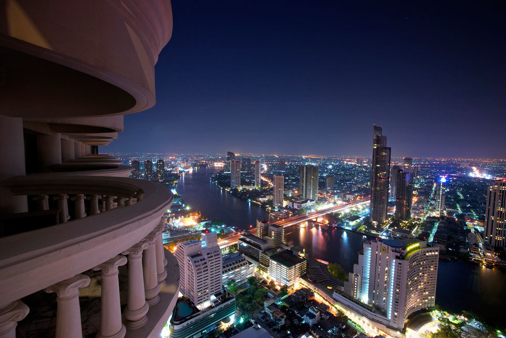 Balcony View's at Tower Club at Lebua, Thailand