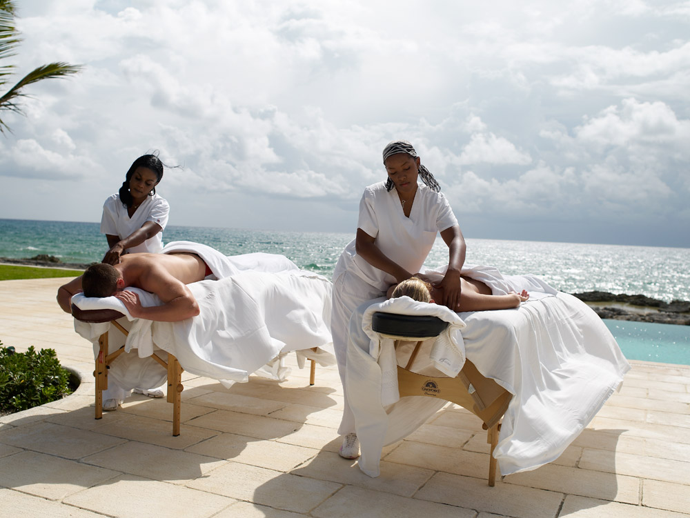 Beach Side Massage at Old Bahama Bay Resort, West End, Grand Bahama Island