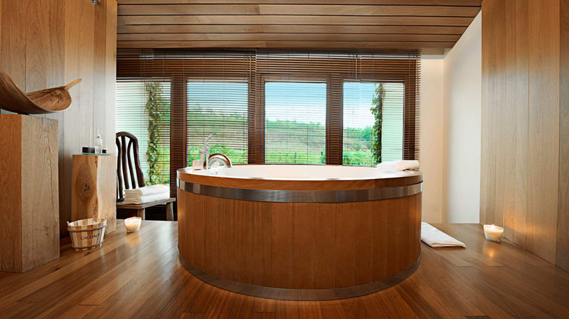 Barrel Bath at The Marques De Riscal Hotel