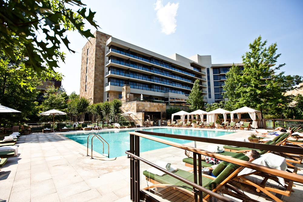 Outdoor Pool and Exterior of The Umstead Hotel and Spa, Cary NC