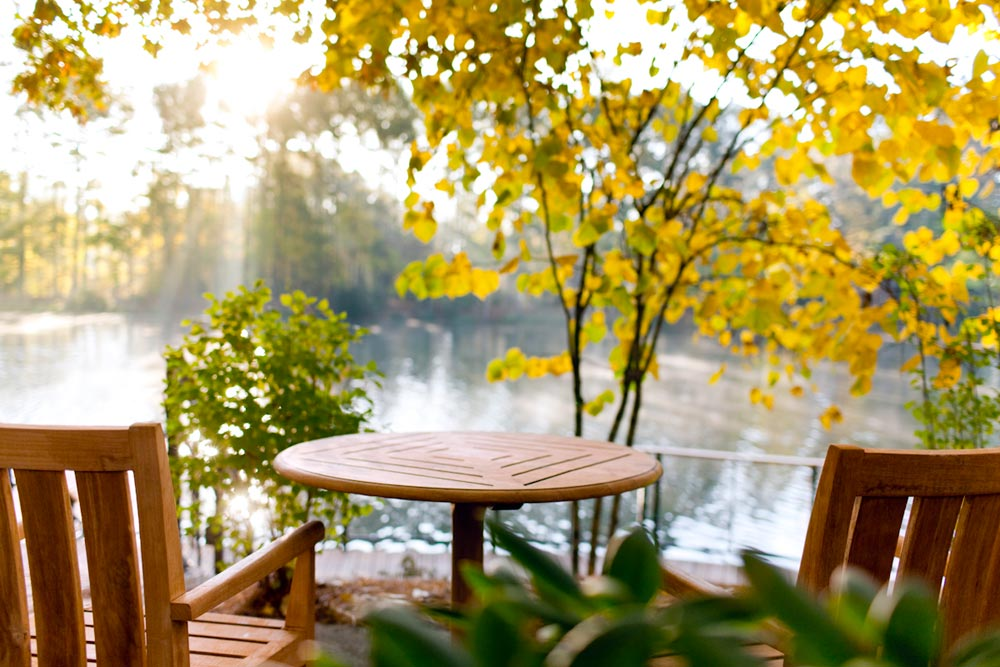 Have a quiet moment by the lake at The Umstead Hotel and SpaCaryNC