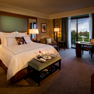 Lake View Balcony Room available with one king or two double beds at The Umstead Hotel and SpaCaryNC