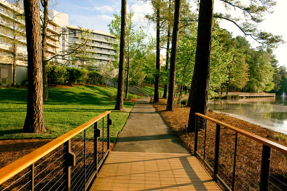 Stroll down Lakeside Trail at The Umstead Hotel and SpaCaryNC