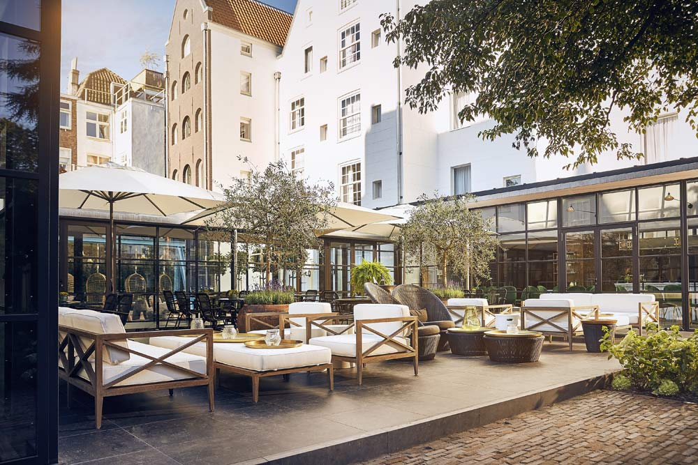 Outdoor Terrace at Hotel Pulitzer, Amsterdam, North-Holland, Netherlands