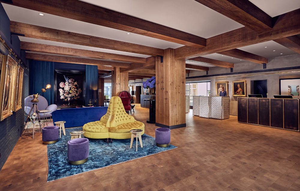 Lobby of Hotel Pulitzer, Amsterdam, North-Holland, Netherlands