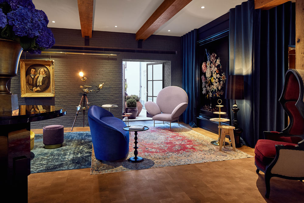Lounge at Hotel Pulitzer, Amsterdam, North-Holland, Netherlands