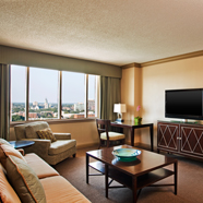Suite Living Room at The Westin Savannah Harbor Golf Resort and SpaGA