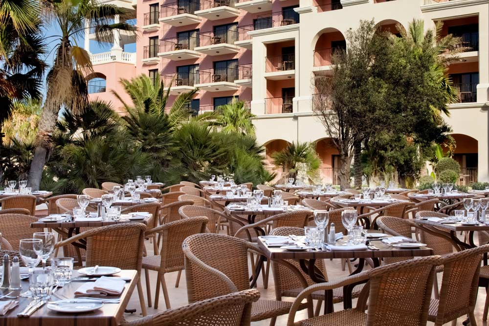 Terrace Dining at Westin Dragonara Resort Malta