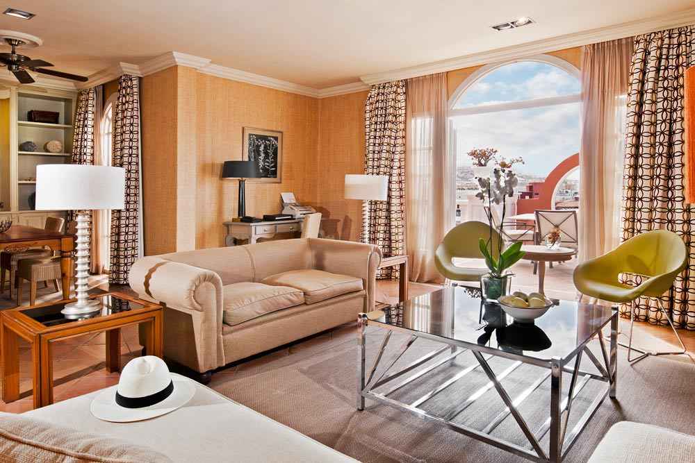 Presidential Suite Living Room at Gran Hotel Bahia Del Duque Resort
