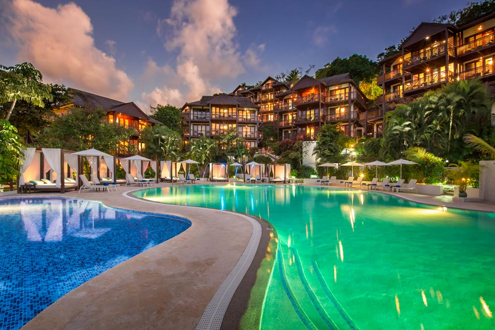 Exterior of Capella Marigot Bay ResortSt. Lucia, West Indies
