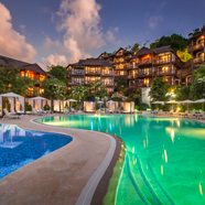 Exterior of Capella Marigot Bay Resort, St. Lucia, West Indies