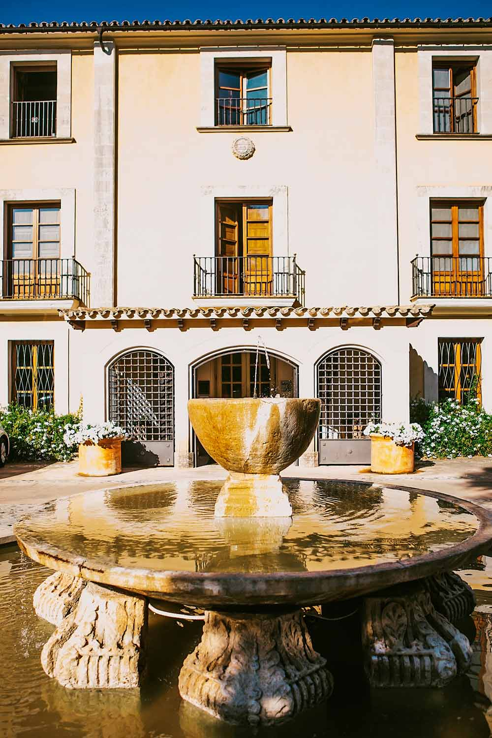Exterior of Fountain at Son Julia Country House HotelBalearesSpain