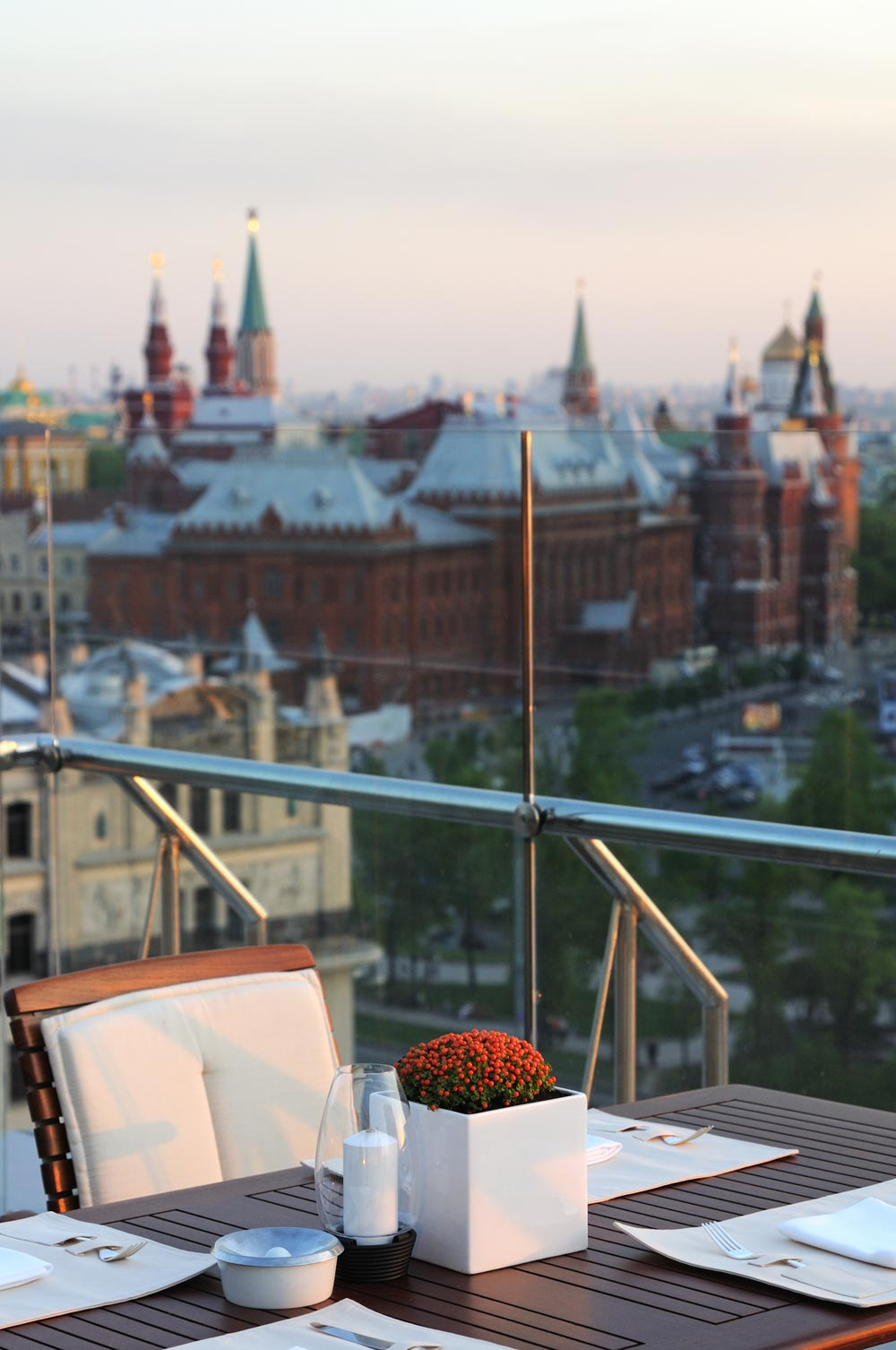 Conservatory Lounge Bar Terrace at Ararat Park Hyatt Moscow, Moscow, Russia