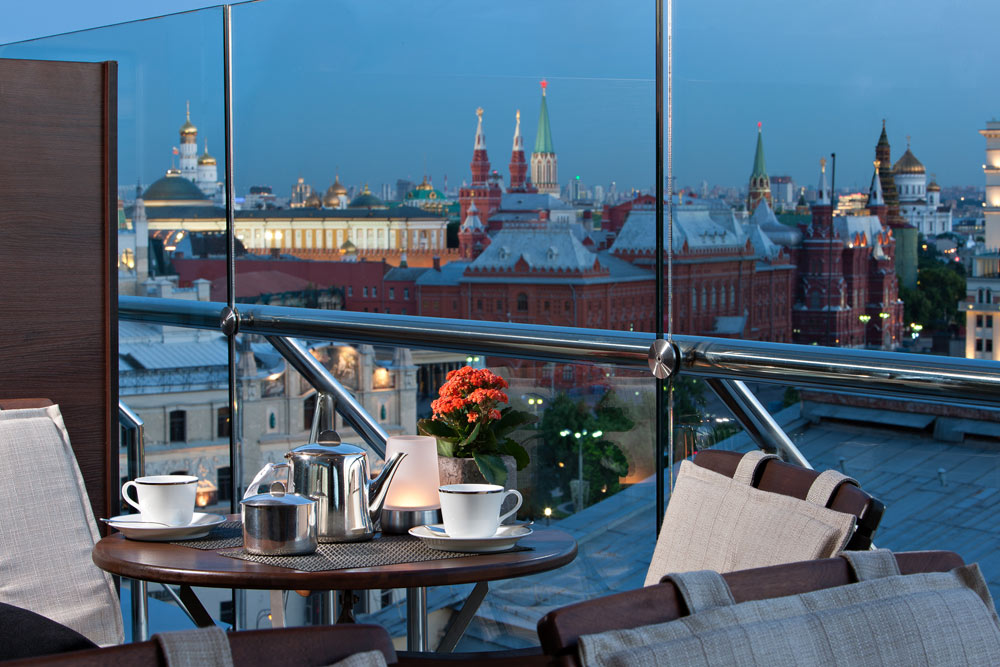 Lounge and Bar at Ararat Park Hyatt Moscow, Moscow, Russia