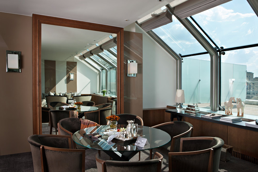 Winter Garden Suite Dining Room at Ararat Park Hyatt Moscow, Moscow, Russia