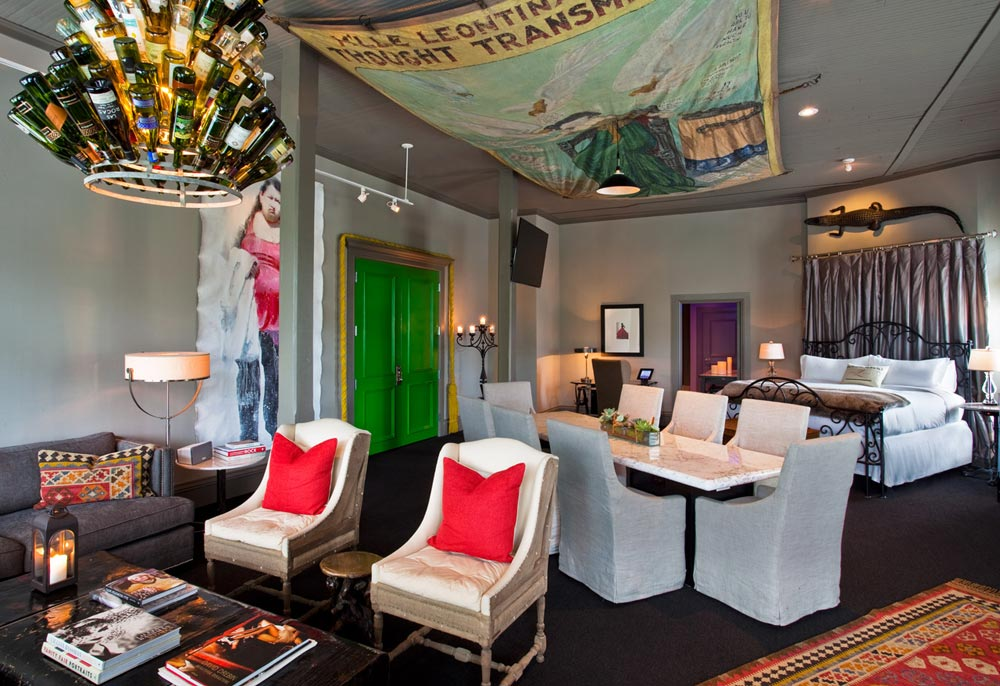 Loft Style Guestroom at Hotel Zaza DallasTexas