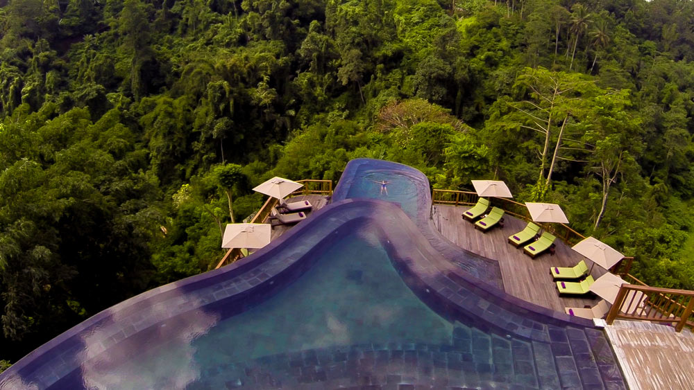 Twin tiered main pools at Hanging Gardens UbudBaliIndonesia