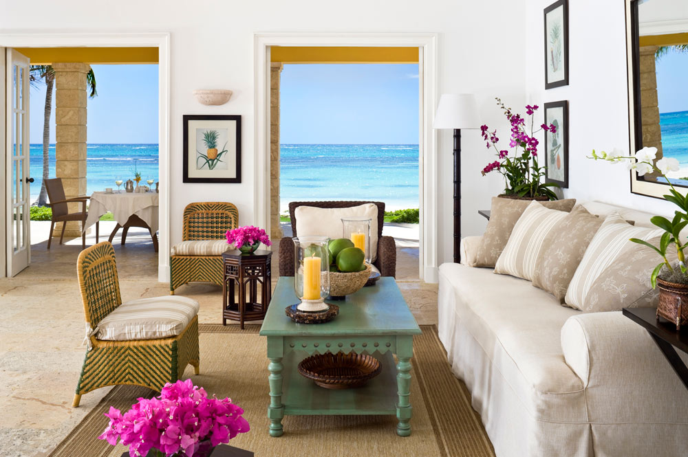 Bay Suite living area at Tortuga Bay Punta Cana