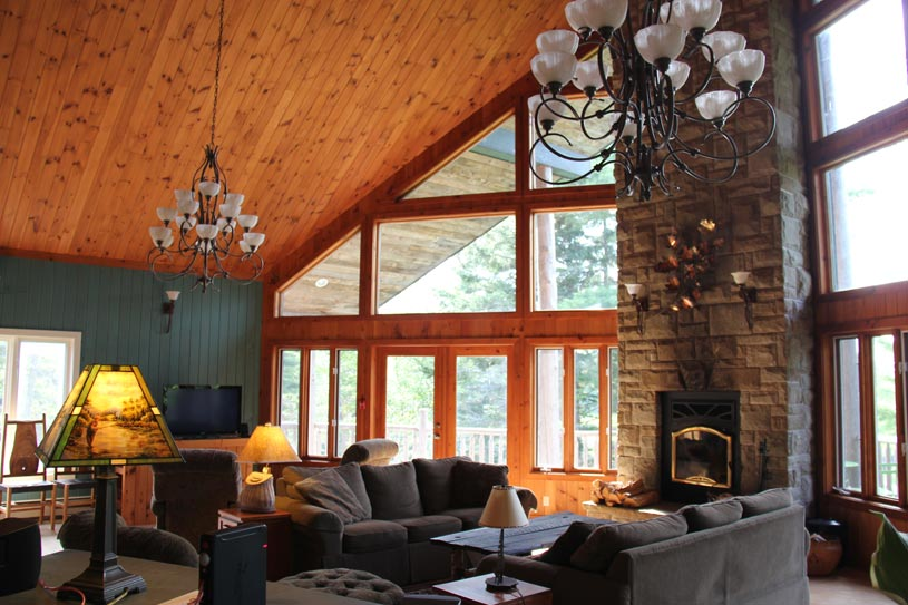 Forest suite at Trout Point Lodge