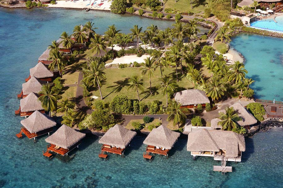 Over water Villas at InterContinental Resort TahitiPapeete