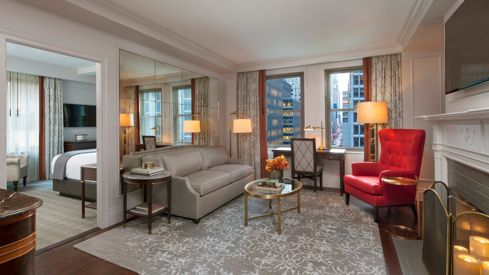 Suite with city views at InterContinental The Barclay New YorkNY