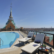 Rooftop Pool at Hilton Molino Stucky VeniceItaly