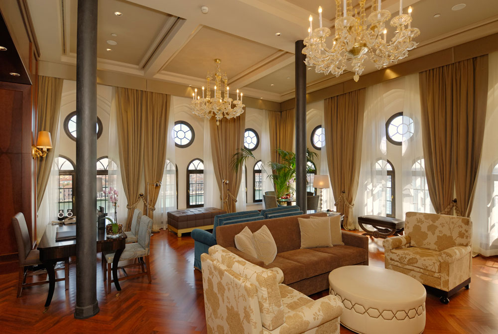 Presidential Suite Living Area at Hilton Molino Stucky Venice, Italy