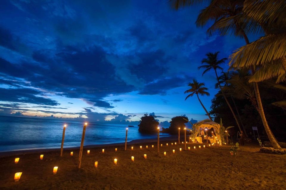 Jade Mountain Resort Cast Away Beac Dinner on the second beach of Anse Mamin