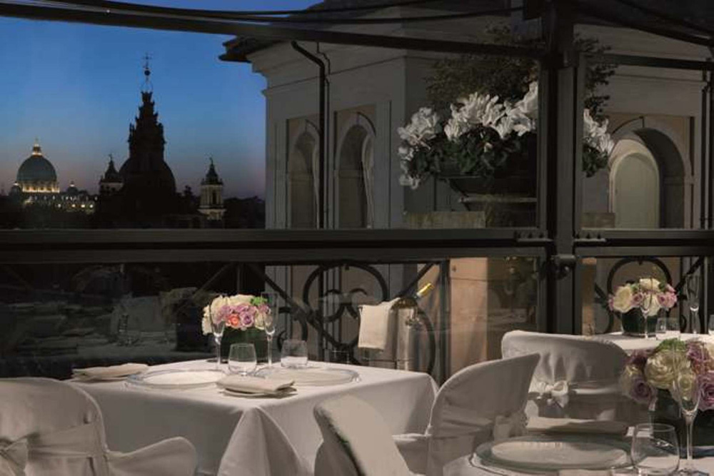 San Pietro dining venue at Grand Hotel de la MinerveRome Italy