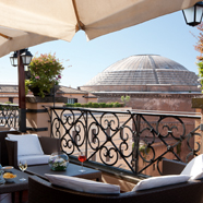 Roof Garden Bar at Grand Hotel de la MinerveRome Italy
