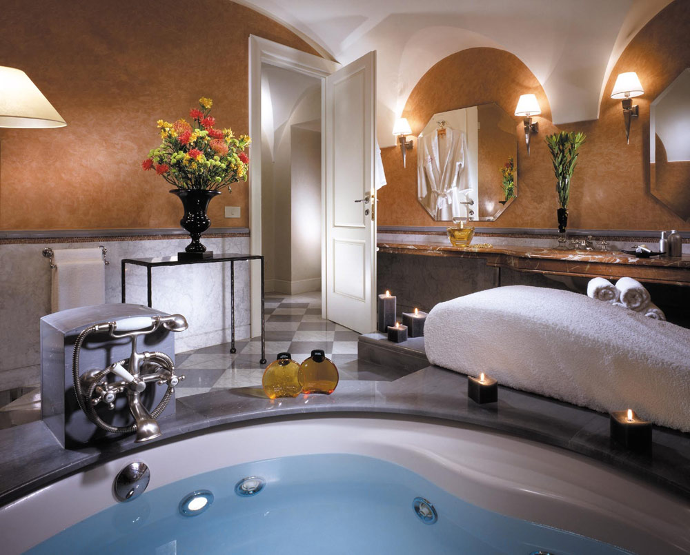 Presidential Suite at Grand Hotel de la Minerve, Rome Italy