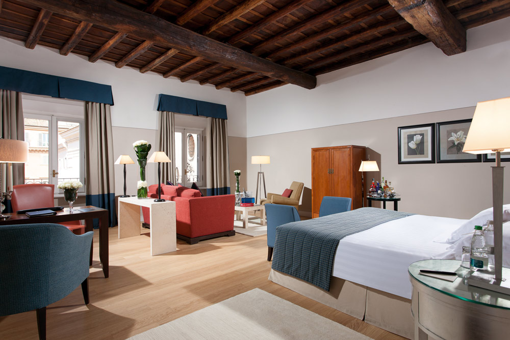 Gran Deluxe Room at Grand Hotel de la Minerve, Rome Italy