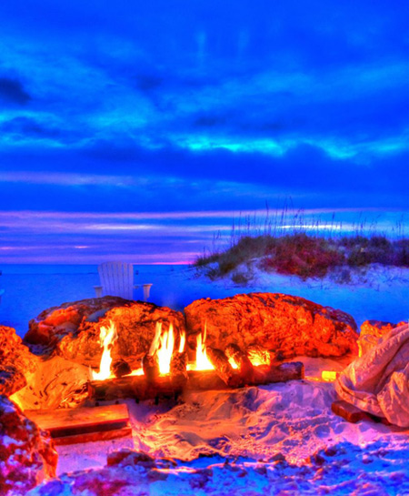 Sandpearl Resort has a beach-side fire pit.